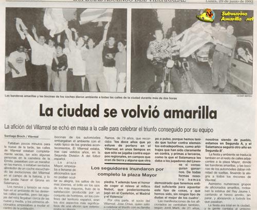 ciutat groga xicotet32 - Ascenso del Villarreal a Segunda A 91/92