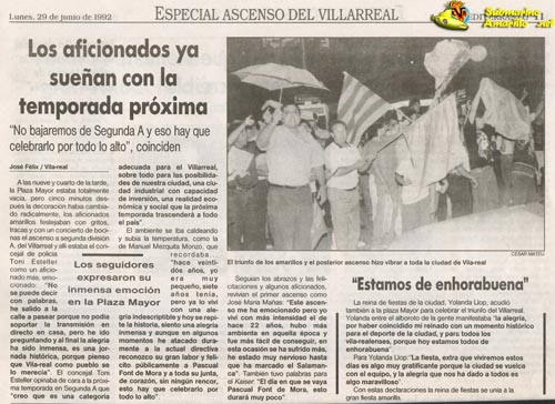 no bajaremos peq32 - Ascenso del Villarreal a Segunda A 91/92