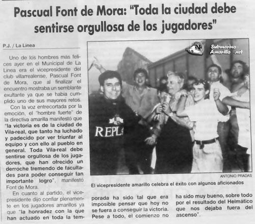 orgullo peq32 - Ascenso del Villarreal a Segunda A 91/92