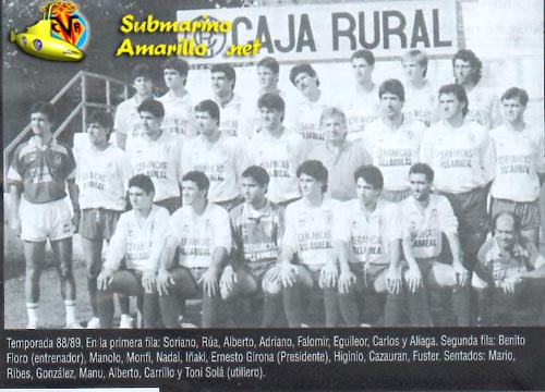 plantilla8889 - El Villarreal en Segunda B