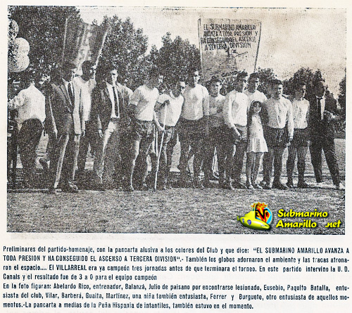 atodapresion - Villarreal CF en los años 60