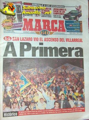 portada marca pequea - Ascenso del Villarreal a primera 97/98