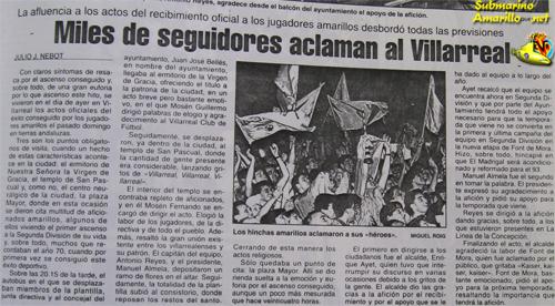 articulo de jj nebotpeqbueno - 28-6-1992, ascenso Villarreal: repercusiones de un día grande (y II)