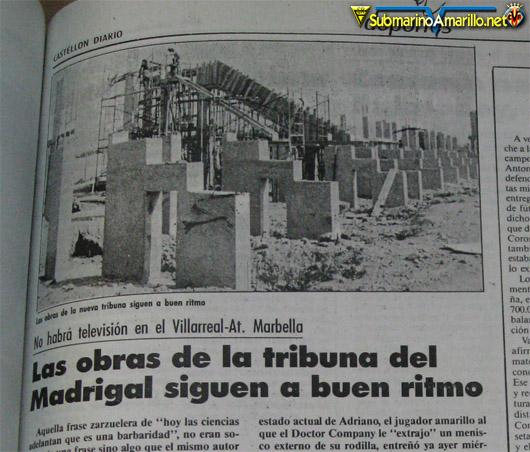 El Madrigal anterior: Inauguración de una tribuna