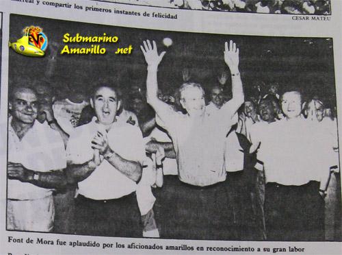 font de mora saludando - 28-6-1992, repercusiones de un día grande (Parte I)