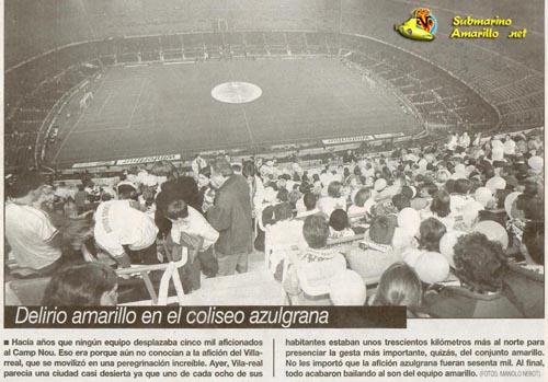 Primera victoria del Villarreal CF en el Camp Nou (98/99)