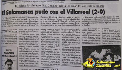 salamanca2 villarreal0cronica - El Villarreal y el Salamanca en la promoción de 1992