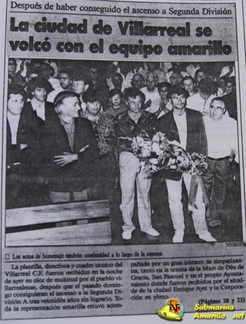 titular castellon diario - 28-6-1992, ascenso Villarreal: repercusiones de un día grande (y II)