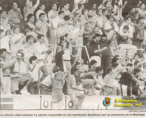 fondo norte - Ascenso del Villarreal a Segunda A 91/92