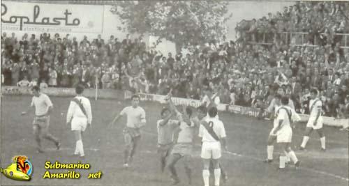 gol al rayo proporcionado - 1970 debut en Segunda del Villarreal