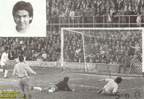 gol de casco - 1970 debut en Segunda del Villarreal