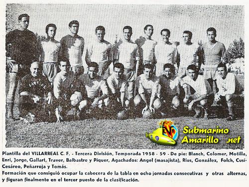 villarreal58 59 - Fundación del Villarreal CF