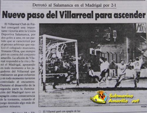 cronica villarreal salamanca92 - El Villarreal y el Salamanca en la promoción de 1992