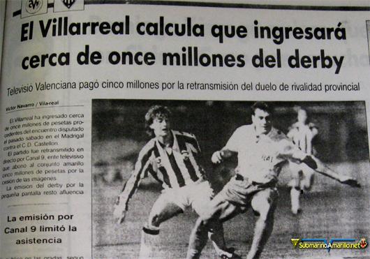 derby canal 9 - El primer partido de Canal 9 en El Madrigal... (Villarreal-Castellón)