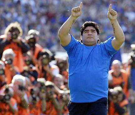 maradona - Martín Palermo, primer mediático