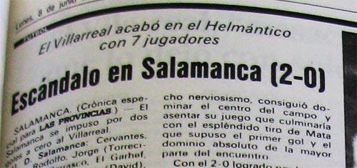 salamanca2 villarreal0 - El Villarreal y el Salamanca en la promoción de 1992