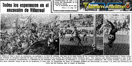 villarreal en girona promocion 71 - Villarreal, verdugo histórico del Girona FC